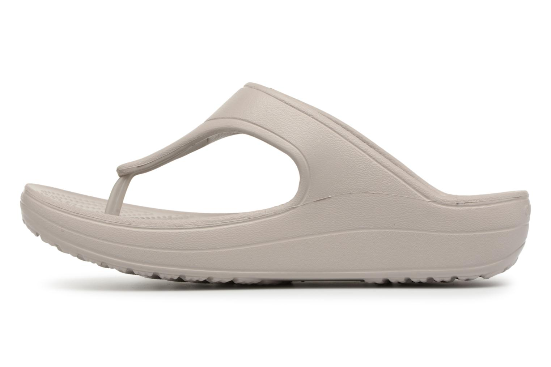 Tongs Crocs Crocs Sloane Platform Flip W Gris vue face
