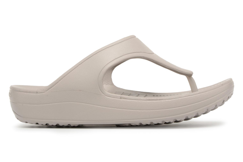 Tongs Crocs Crocs Sloane Platform Flip W Gris vue derrière