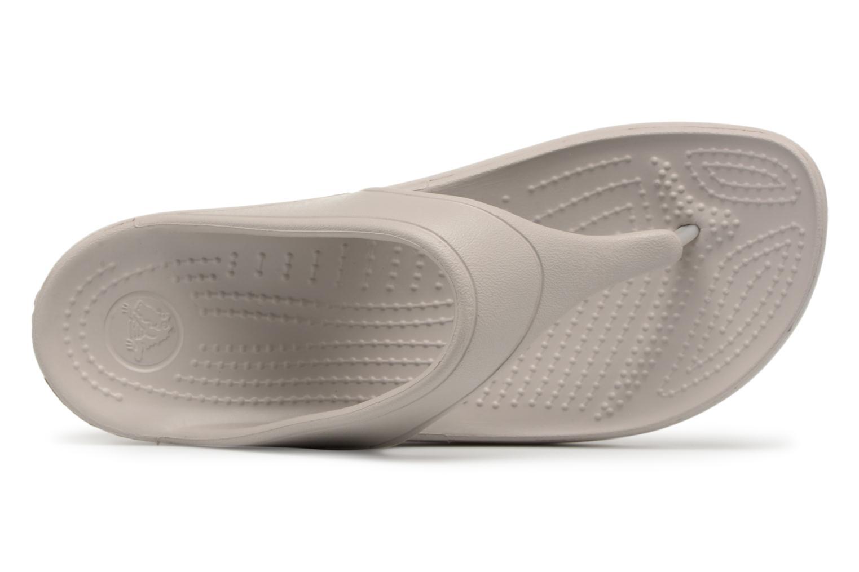 Tongs Crocs Crocs Sloane Platform Flip W Gris vue gauche
