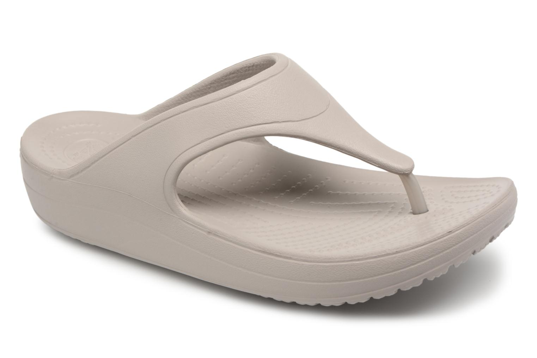 Tongs Crocs Crocs Sloane Platform Flip W Gris vue détail/paire