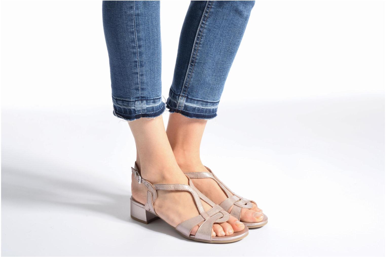 Sandales et nu-pieds Caprice Aneta Rose vue bas / vue portée sac