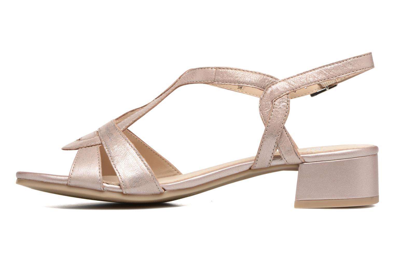 Sandales et nu-pieds Caprice Aneta Rose vue face
