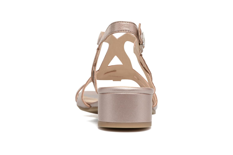 Sandales et nu-pieds Caprice Aneta Rose vue droite