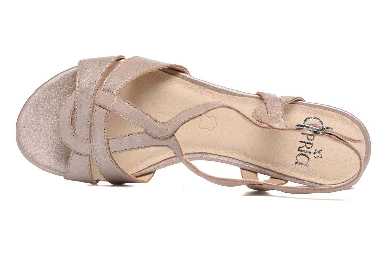 Sandales et nu-pieds Caprice Aneta Rose vue gauche