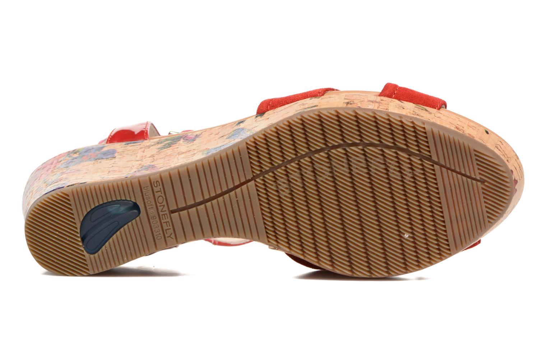 Sandales et nu-pieds Stonefly Marlene II Rouge vue haut