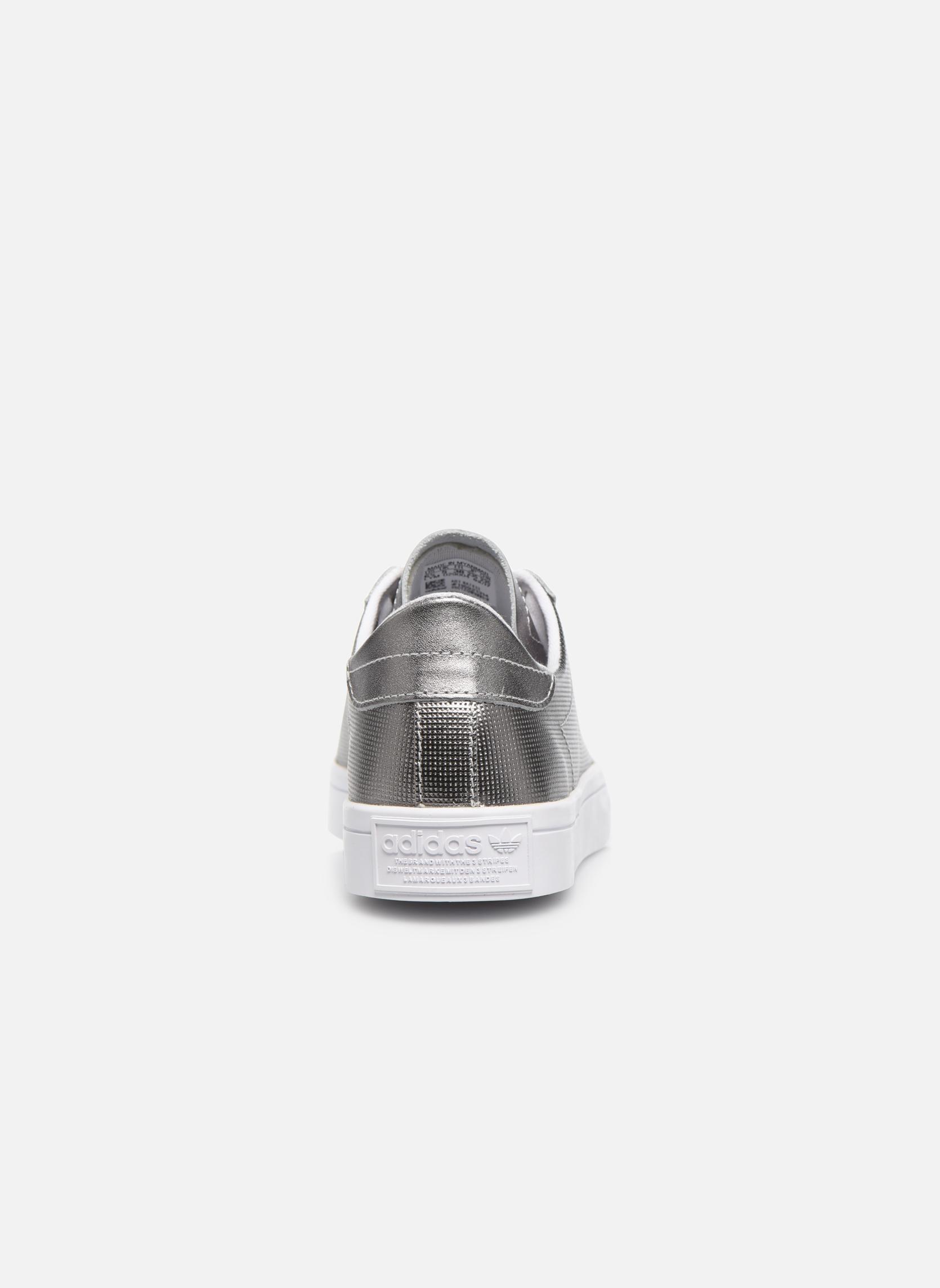 Baskets Adidas Originals Courtvantage W Gris vue droite
