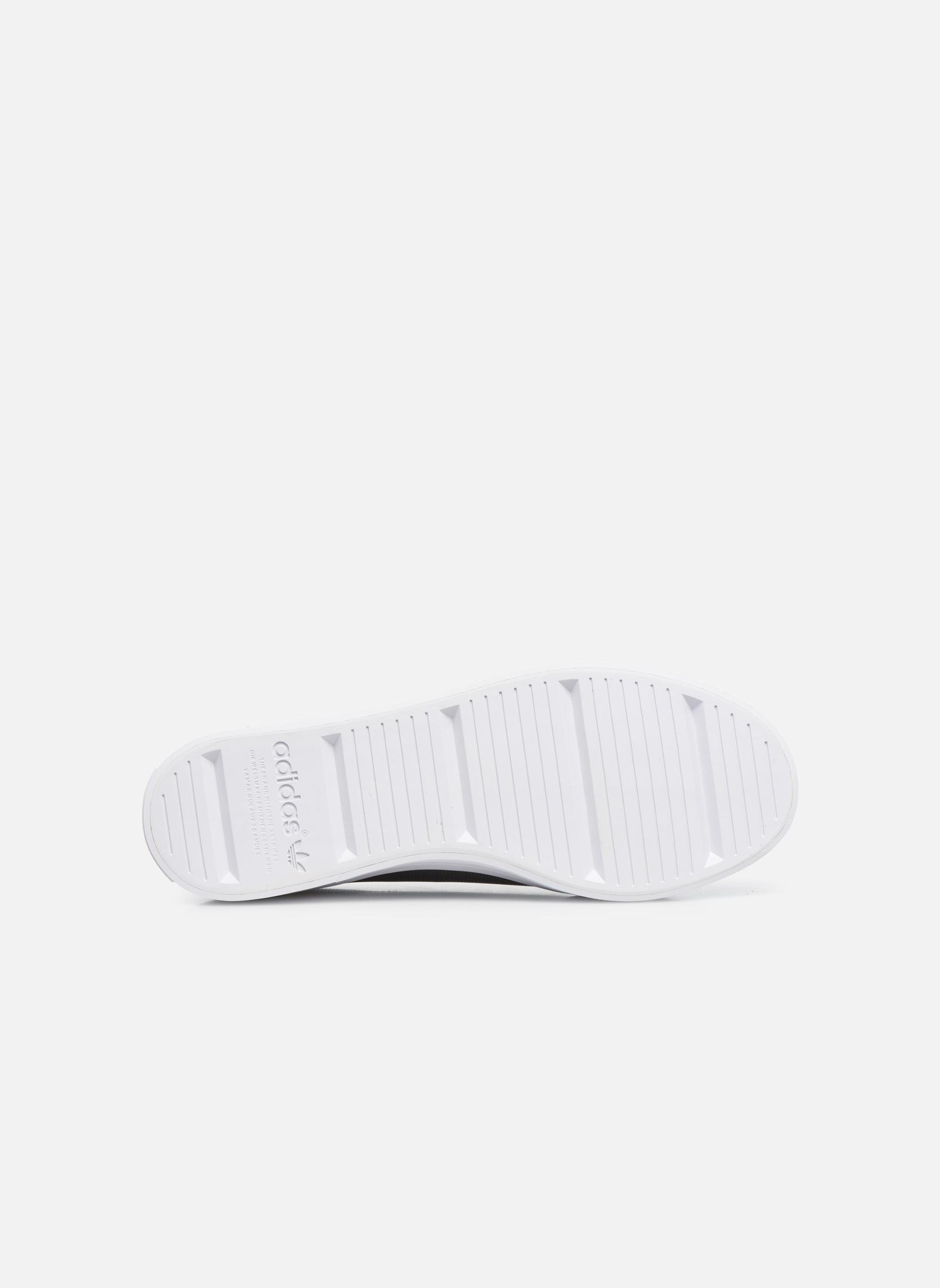 Baskets Adidas Originals Courtvantage W Gris vue haut