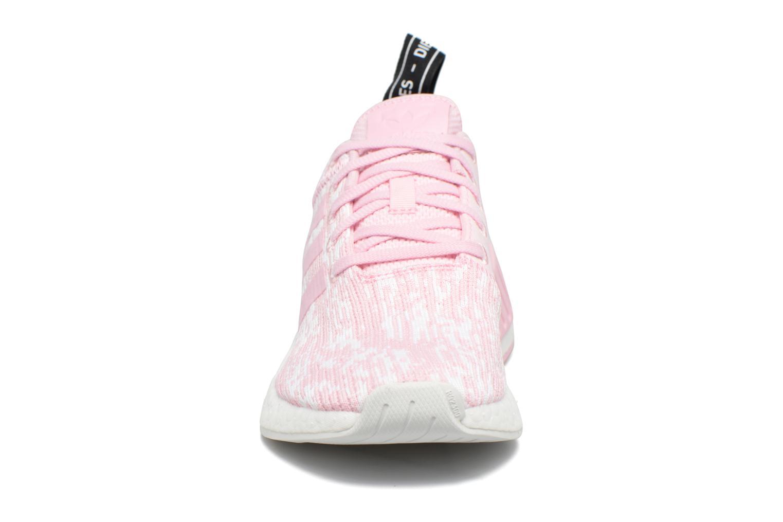 Baskets Adidas Originals Nmd_R2 W Rose vue portées chaussures