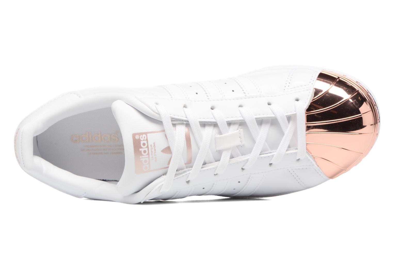 Sneaker Adidas Originals Superstar Metal Toe W weiß ansicht von links