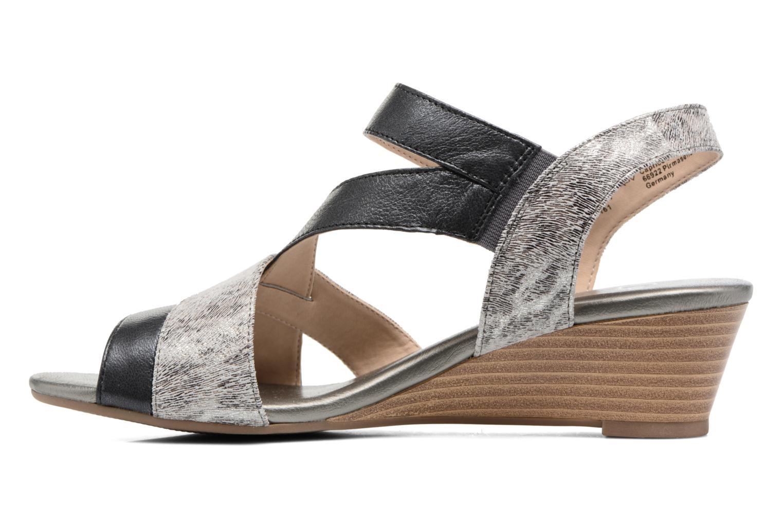 Sandales et nu-pieds Caprice Arielle 2 Gris vue face