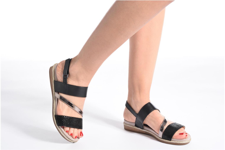 Sandales et nu-pieds Caprice Cynthia Blanc vue bas / vue portée sac