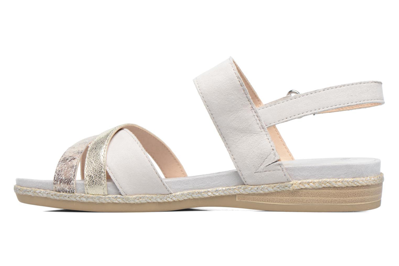Sandales et nu-pieds Caprice Cynthia Blanc vue face