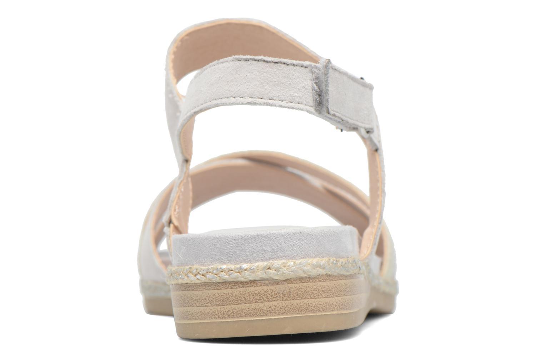 Sandales et nu-pieds Caprice Cynthia Blanc vue droite