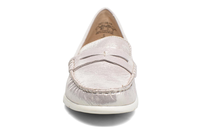 Mocassins Caprice Ettiene Argent vue portées chaussures