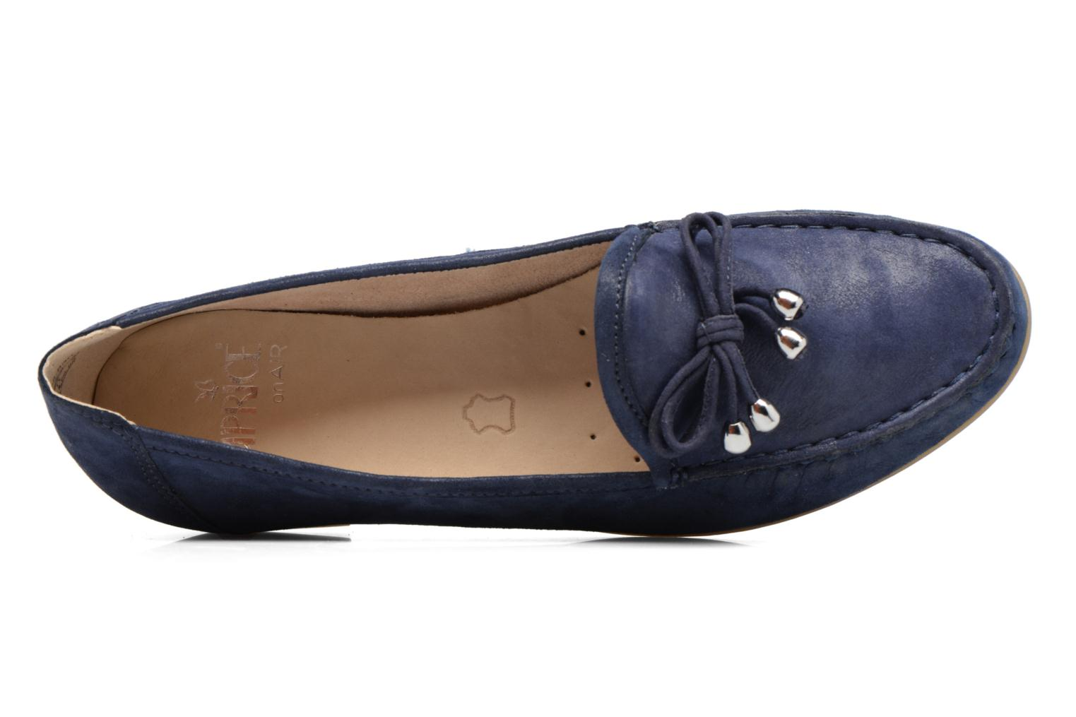Loafers Caprice Lena Blue view from the left