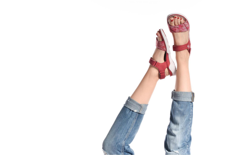 Chaussures de sport Allrounder by Mephisto Tabasa Rouge vue bas / vue portée sac