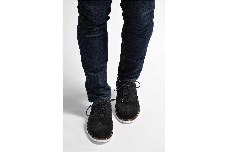 Chaussures à lacets Mr SARENZA Clydor Bleu vue bas / vue portée sac