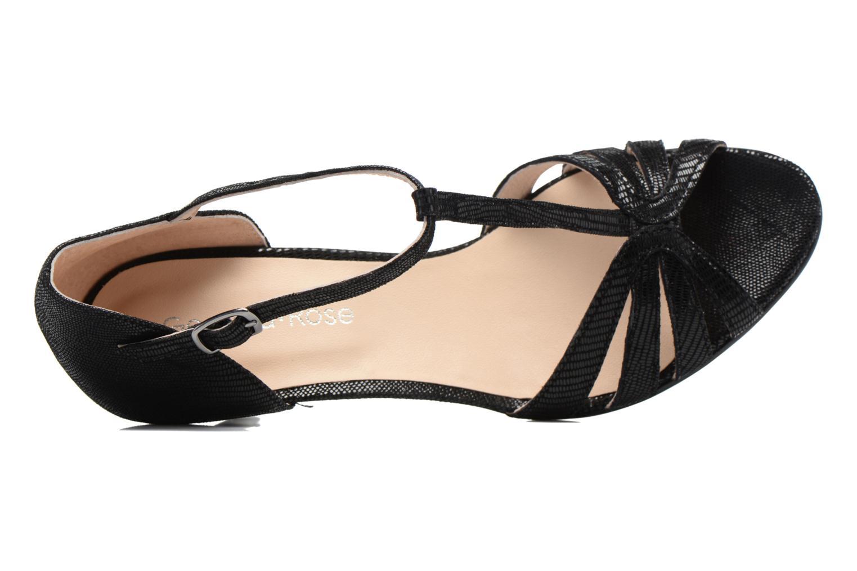 Sandales et nu-pieds Georgia Rose Salapa Noir vue gauche