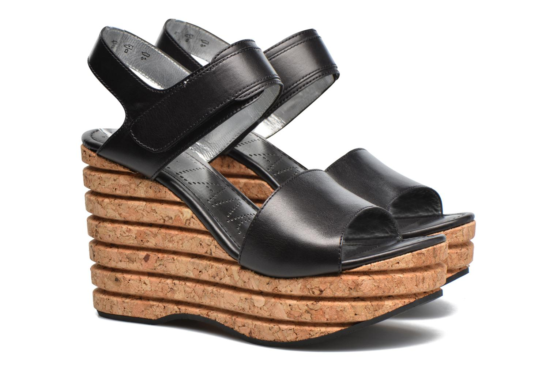 Sandales et nu-pieds Free Lance Eny 7 Sandal Velcro Noir vue 3/4