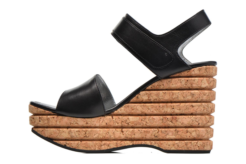 Sandales et nu-pieds Free Lance Eny 7 Sandal Velcro Noir vue face