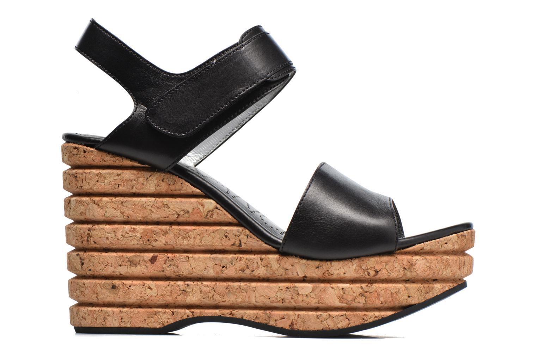 Sandales et nu-pieds Free Lance Eny 7 Sandal Velcro Noir vue derrière