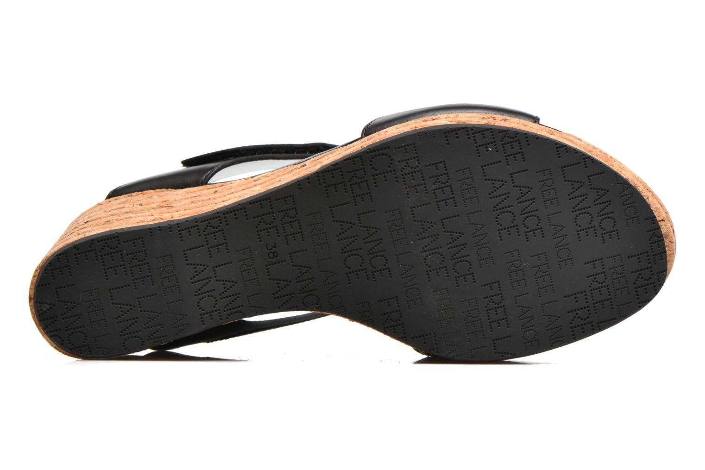 Sandales et nu-pieds Free Lance Eny 7 Sandal Velcro Noir vue haut