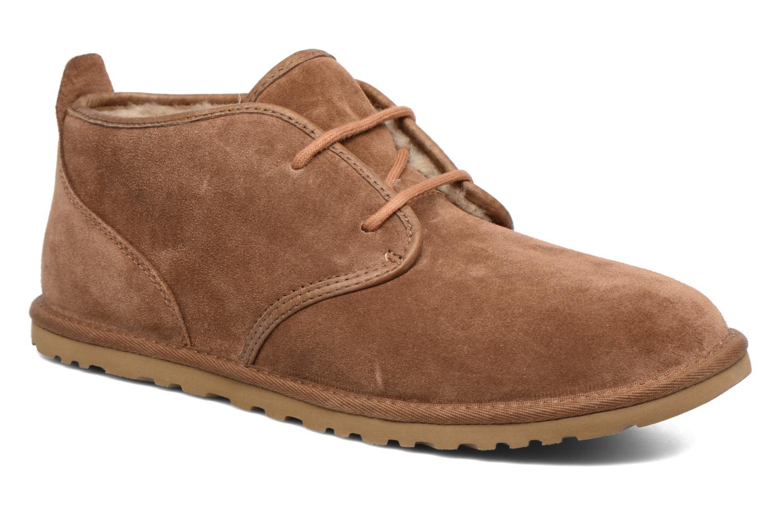 Chaussures à lacets UGG M Maksim Marron vue détail/paire