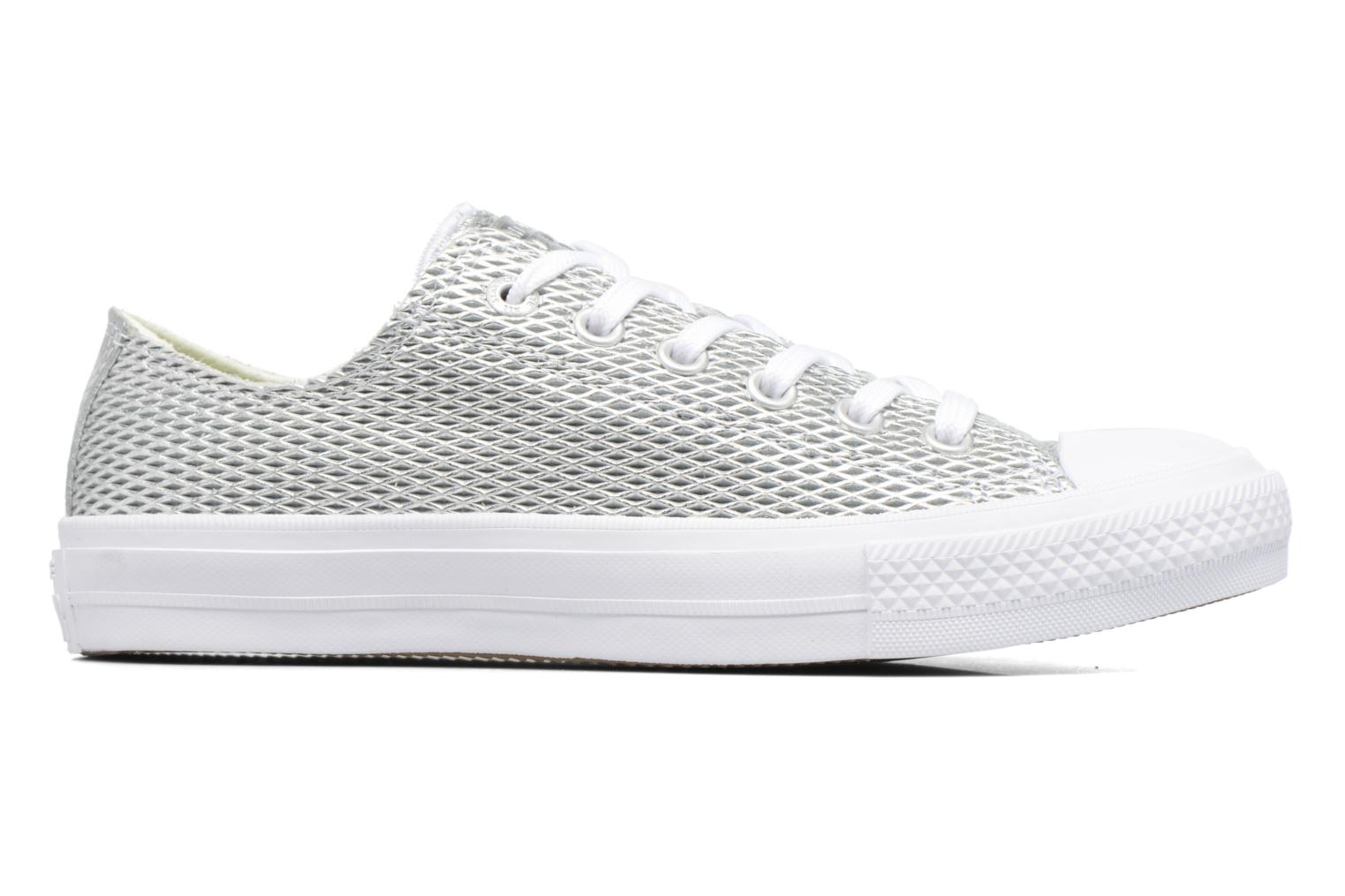 Sneakers Converse Chuck Taylor All Star II Ox Perf Metallic Leather Argento immagine posteriore