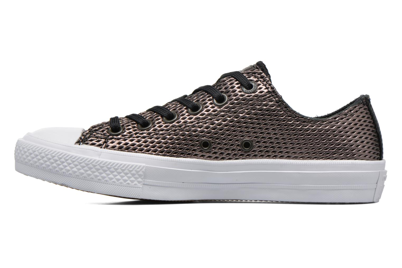 Baskets Converse Chuck Taylor All Star II Ox Perf Metallic Leather Noir vue face