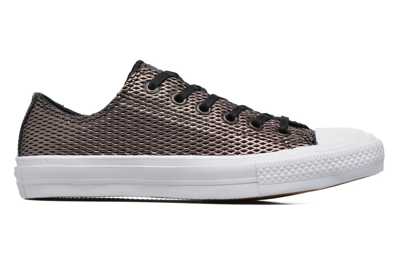 Baskets Converse Chuck Taylor All Star II Ox Perf Metallic Leather Noir vue derrière