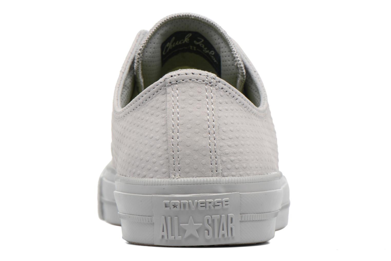 Sneakers Converse Chuck Taylor All Star II Ox Lux Leather Grigio immagine destra