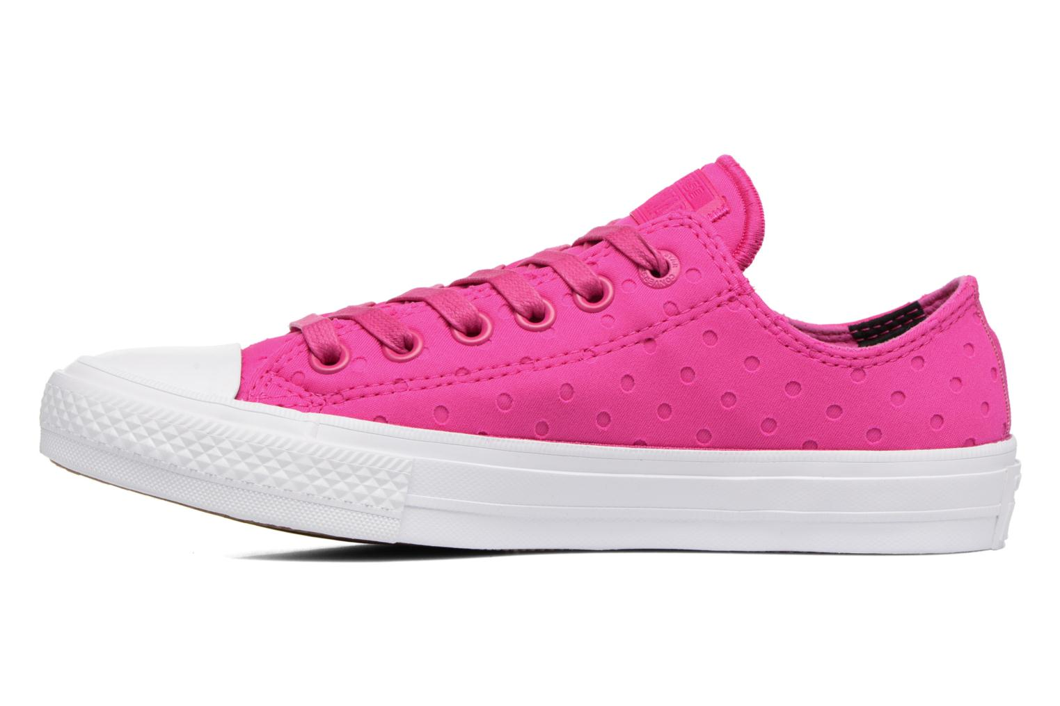Deportivas Converse Chuck Taylor All Star II Ox Shield Lycra Rosa vista de frente