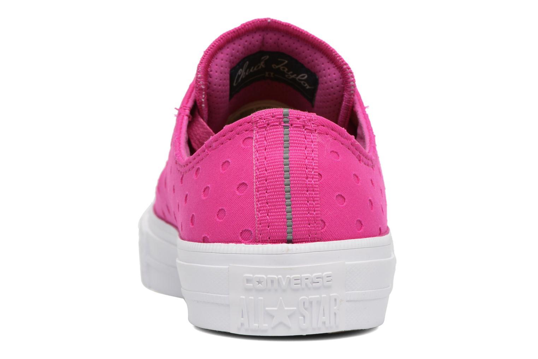 Sneakers Converse Chuck Taylor All Star II Ox Shield Lycra Rosa immagine destra
