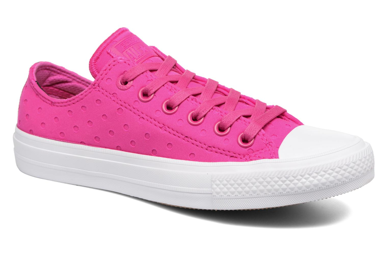 Chuck Taylor All Star II Ox Shield Lycra Magenta Glow/Magenta Glow/White