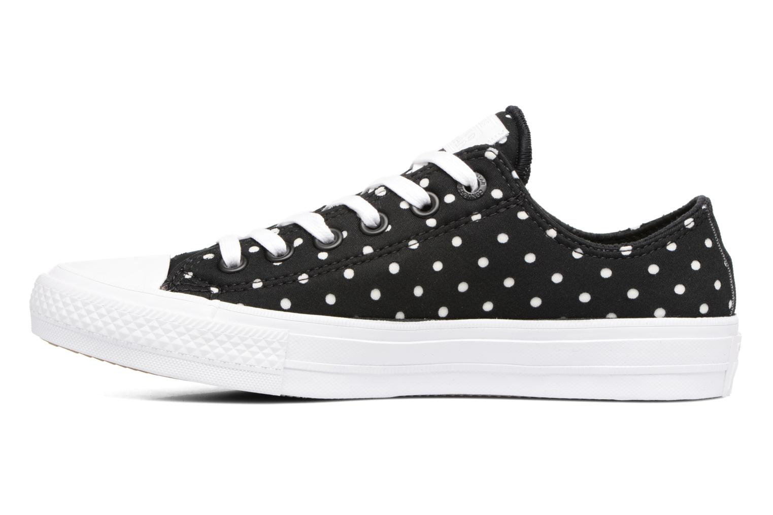 Baskets Converse Chuck Taylor All Star II Ox Shield Lycra Noir vue face