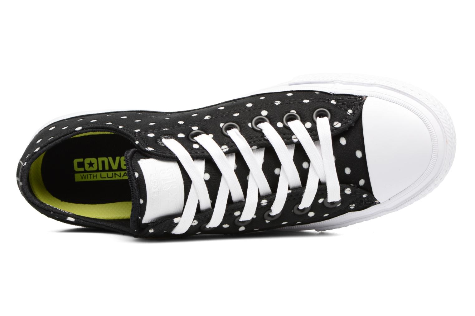 Baskets Converse Chuck Taylor All Star II Ox Shield Lycra Noir vue gauche