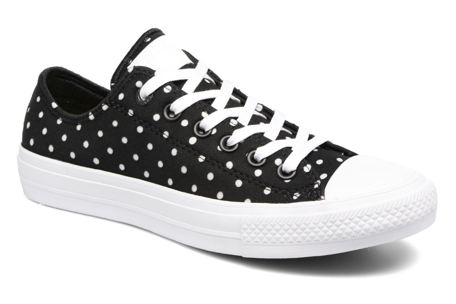 Baskets Converse Chuck Taylor All Star II Ox Shield Lycra Noir vue détail/paire