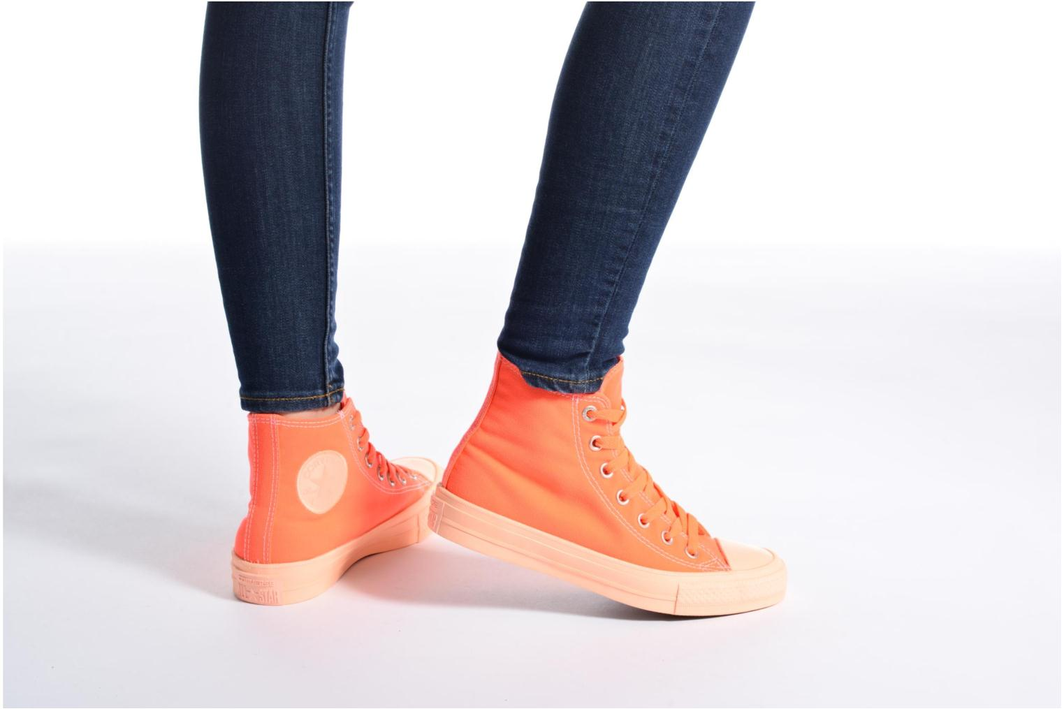 Baskets Converse Chuck Taylor All Star II Hi Pastel Midsoles W Orange vue bas / vue portée sac