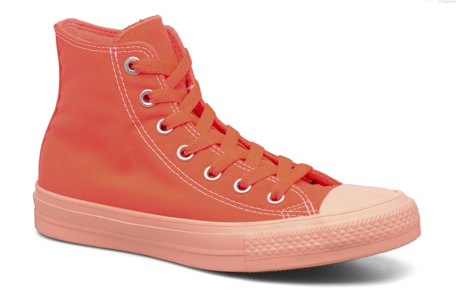 Baskets Converse Chuck Taylor All Star II Hi Pastel Midsoles W Orange vue détail/paire