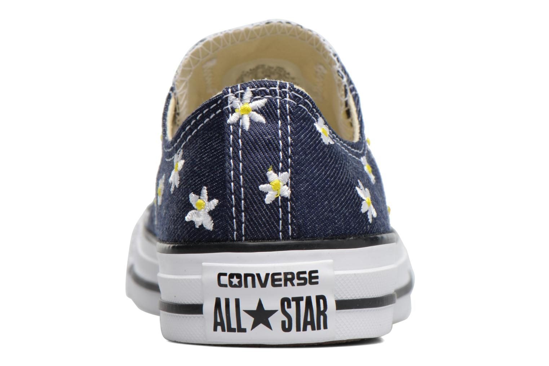 Baskets Converse Chuck Taylor All Star Ox Denim Floral Bleu vue droite