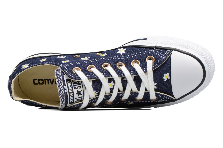 Baskets Converse Chuck Taylor All Star Ox Denim Floral Bleu vue gauche