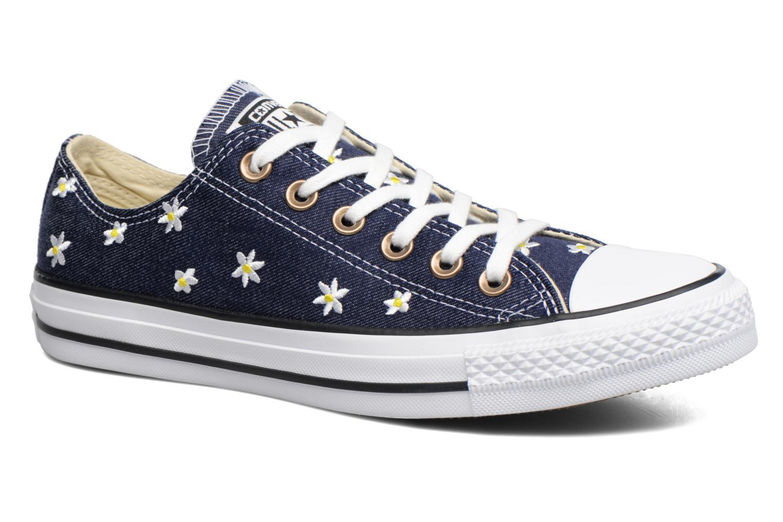 Baskets Converse Chuck Taylor All Star Ox Denim Floral Bleu vue détail/paire