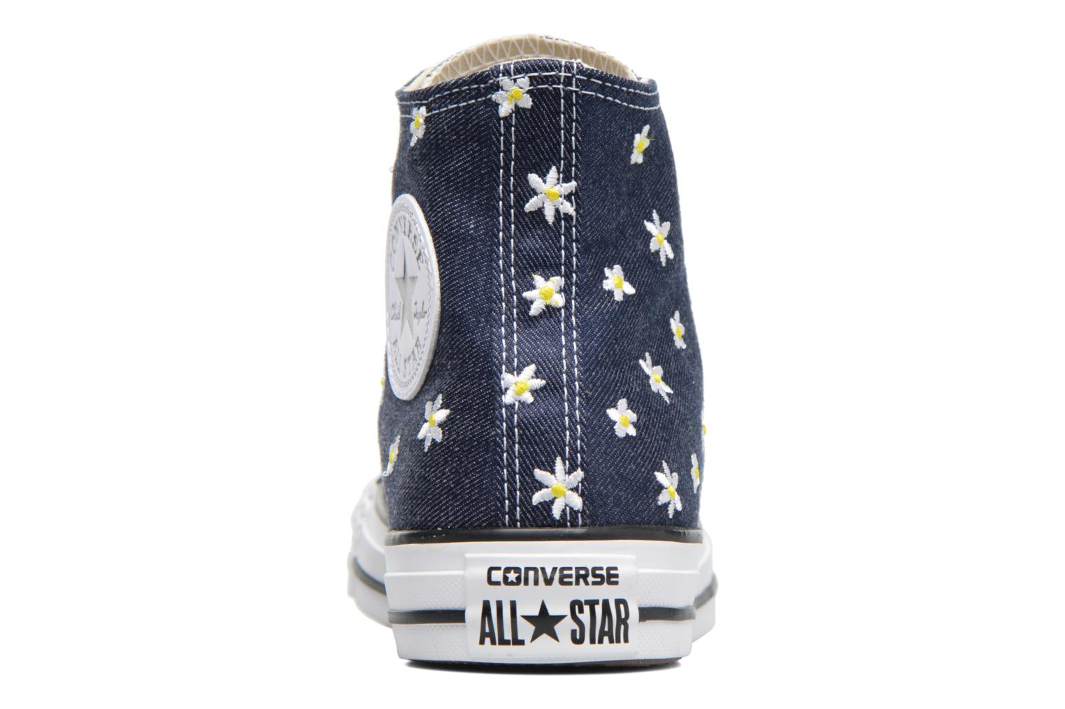 Baskets Converse Chuck Taylor All Star Hi Denim Floral Bleu vue droite