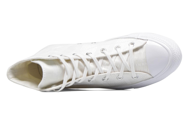Deportivas Converse Chuck Taylor All Star Gemma Hi Engineered Lace Blanco vista lateral izquierda
