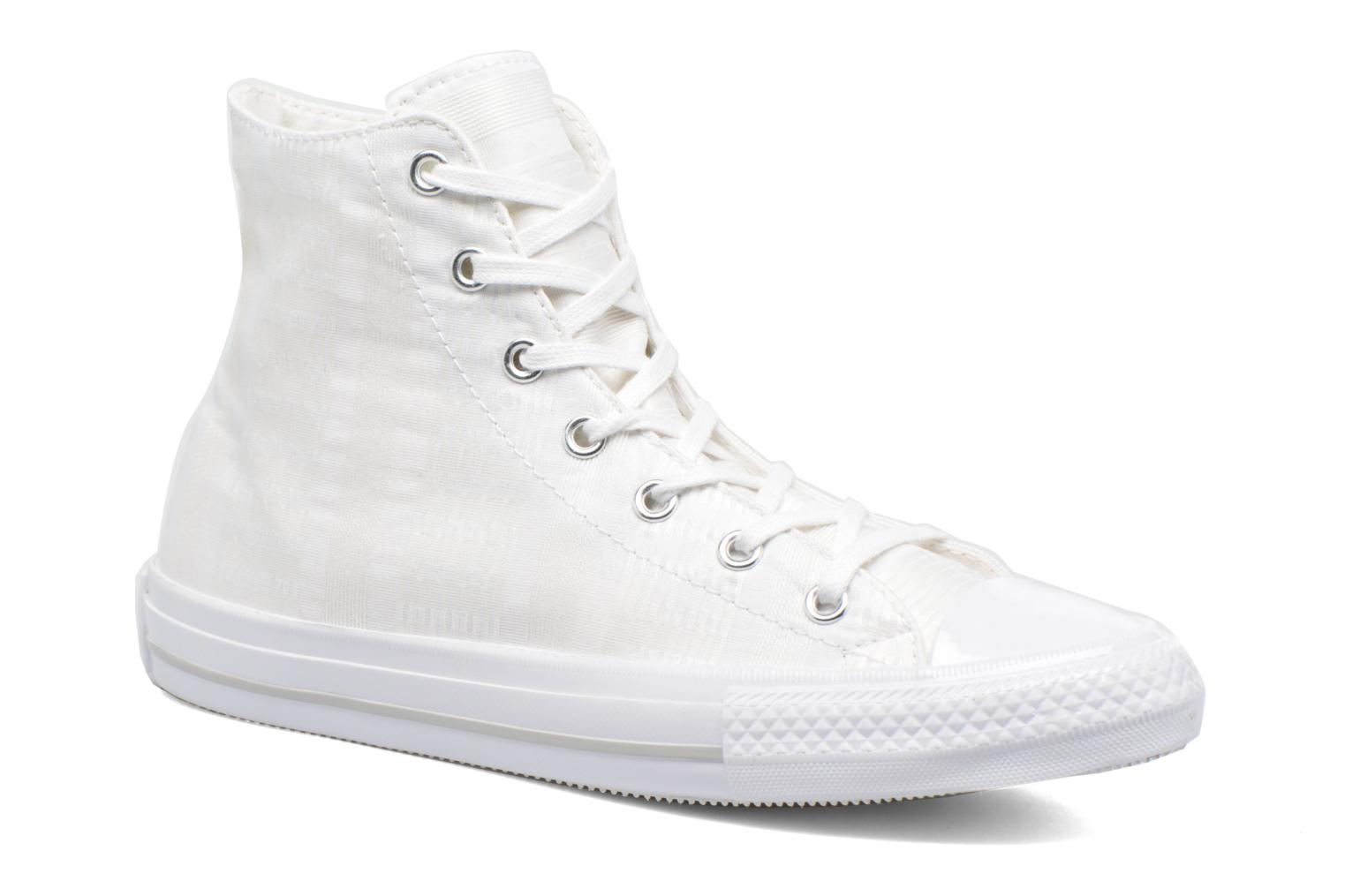 Baskets Converse Chuck Taylor All Star Gemma Hi Engineered Lace Blanc vue détail/paire