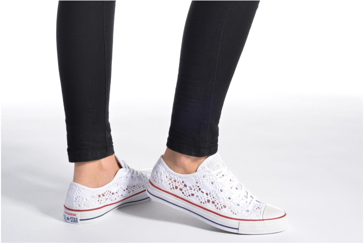 Sneakers Converse Chuck Taylor All Star Ox Italy Crochet Bianco immagine dal basso