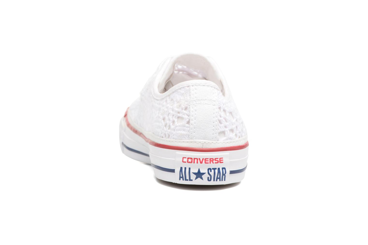 Sneakers Converse Chuck Taylor All Star Ox Italy Crochet Bianco immagine destra