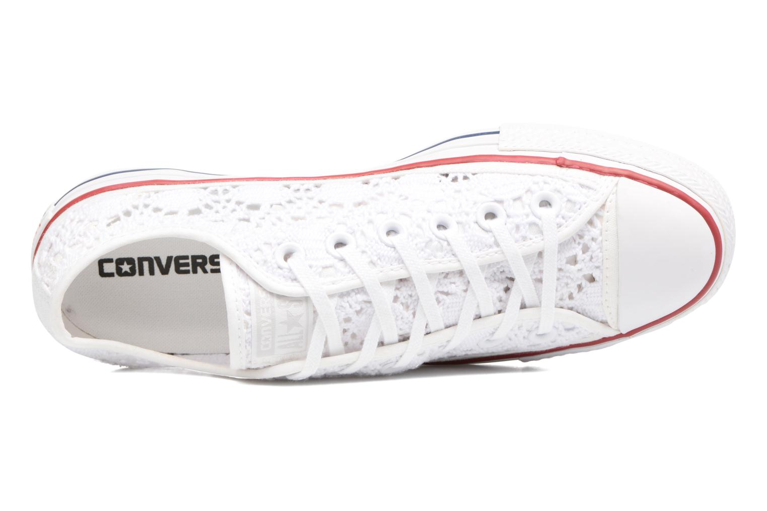 Sneakers Converse Chuck Taylor All Star Ox Italy Crochet Bianco immagine sinistra