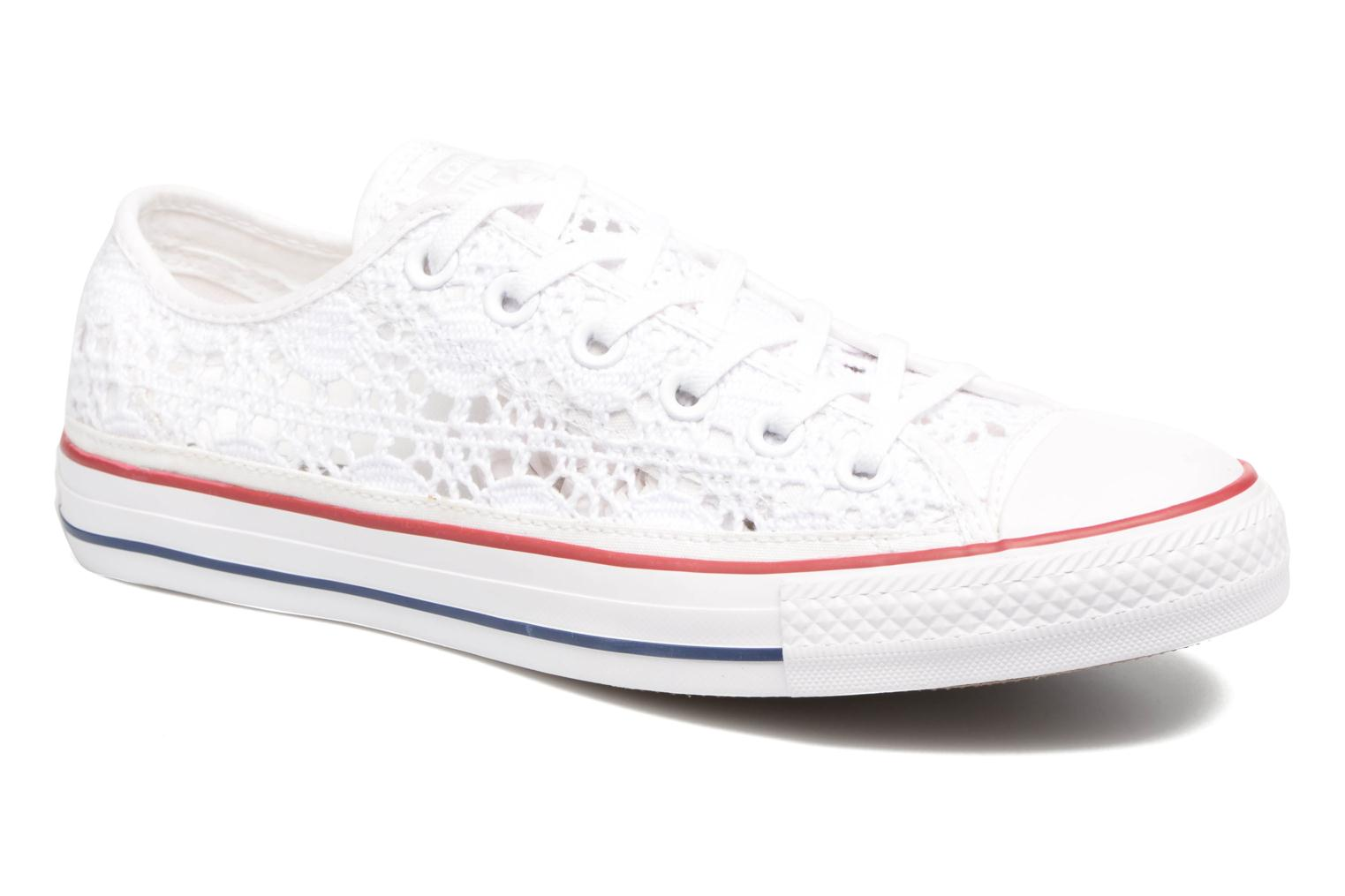 Baskets Converse Chuck Taylor All Star Ox Italy Crochet Blanc vue détail/paire