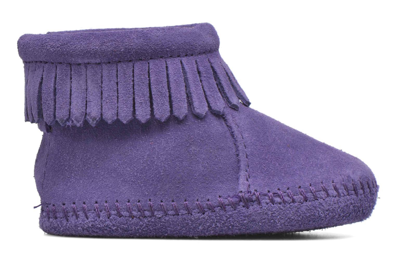 Bottines et boots Minnetonka Back Strap Bootie Violet vue derrière